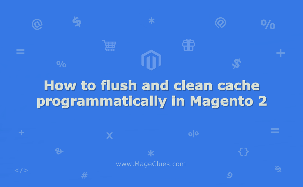 How to flush and clean cache programmatically in Magento 2