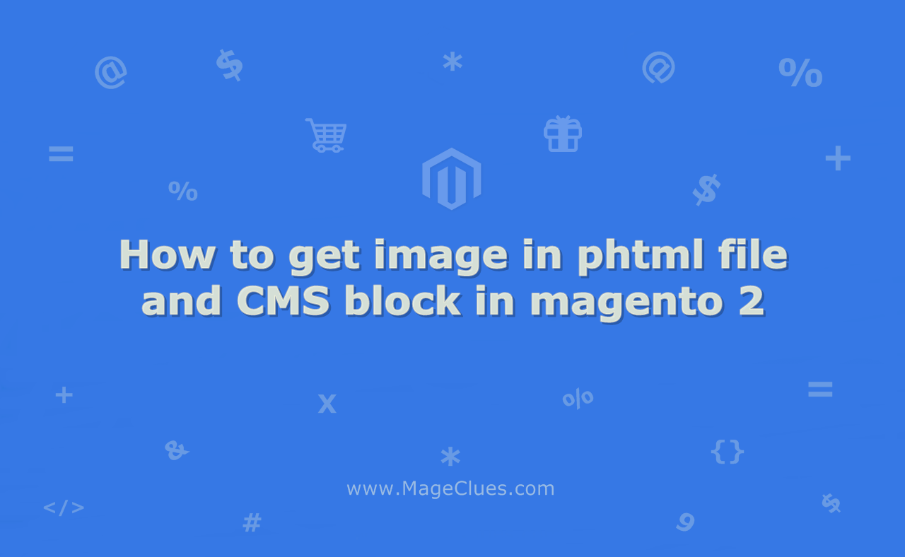 How to get image in phtml file and CMS block in magento 2
